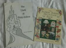 THE FLOWER FAIRIES DECOUPAGE BOOK & THE WORLD OF MAKE BELIEVE TRANSFER BOOK