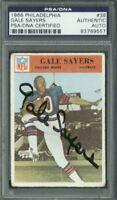 Bears Gale Sayers Signed Card 1966 Philadelphia #38 PSA/DNA Slabbed #83769557