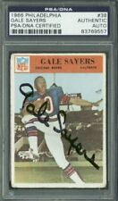 Bears Gale Sayers Signed Card 1966 Philadelphia #38 PSA/DNA Slabbed #83769557