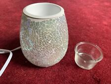 Partylite Candle Iridescent Azure Mosaic Glow Warmer