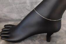 """Anklet Sterling Silver (Snake) adjustable 9""""-10"""""""