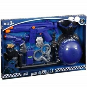 Police Policeman City Defender Fancy Dress Up Accessory Toy Playset Gift Set