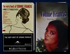 The Very Best of CONNIE FRANCIS Vol.s 1 & 2 Lot of 2 Cassette Tapes Near Mint