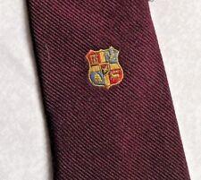 Vintage Tie Mens Necktie SHIELD CRESTED Club Association Society College