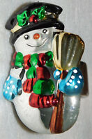 Snowman Frosty Christmas Napkin Ring 3 Inch Shiny Silver Allure 1998 Holiday