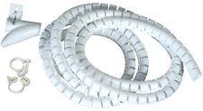 Flexible-Kabelspirale Spiralschlauch mit Einziehhilfe Ø 20 mm Länge 2.5 m WEISS