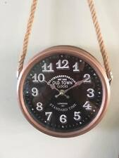 ~Vintage style copper wall clock with rope hanger~Home Decor~