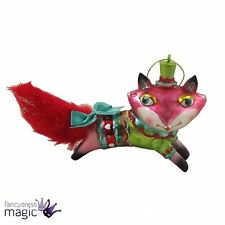 Gisela Graham Christmas Painted Glass Fox Tree Decoration Ornament Xmas 9cm