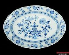 """Meissen China Zwiebelmuster Blue Onion Cross Swords Mark 15 3/4"""" Oval Platter"""