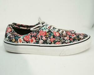 Vans of the Wall Skate Shoes Men's Lace Up Floral Paisley Size 7.5