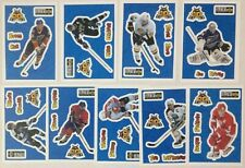Lot of 9 Hockey Sticker Cards - 1996-97 UD Collectors Choice Stick Ums