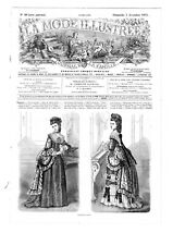 MODE ILLUSTREE SEWING PATTERN Dec 3 1871 - Paletot, Evening dress, Capote
