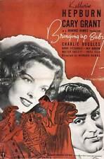 BRINGING UP BABY Movie POSTER 27x40 F Katharine Hepburn Cary Grant May Robson