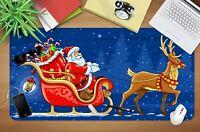 3D Schlittenhirsch H904 Christmas Rutschfest Schreibtisch Matte Tastatur Pad Amy