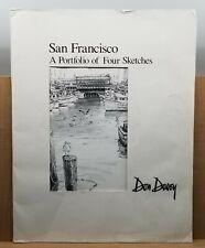 Don Davey San Francisco A Portfolio of Four Sketches Golden State Bridge