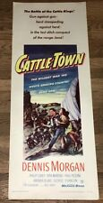 CATTLE TOWN (1952) COLORFUL & EXCITING WESTERN INSERT ~ NEVER-FOLDED - XF!