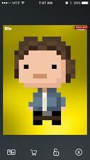 Topps Star Wars Digital Card Trader Yellow 8-Bit Bespin Han Solo Insert