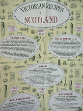 Tea Dish Towel Victorian Recipes Scotland 1978 Finnan Haddie Haggis Scotch Broth