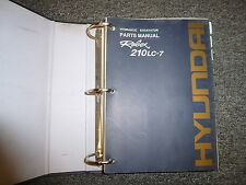 Hyundai Robex Model 210LC-7 Hydraulic Excavator Parts Catalog Manual Book