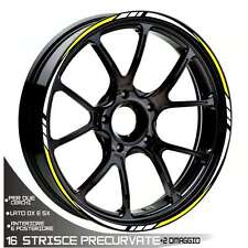 TRIMS WHEEL TWO-COLOURED STICKERS BMW S 100 RR BIANCO YELLOW