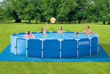 New listing intex 18ft x 48in metal frame above ground pool set with pump cover & ladder