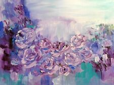 Lavender Love 24x18 Original Acrylic Painting Floral Wall Deco Art by Patricia