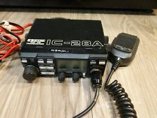 Icom IC-28A Transceiver with an Icom HM-23 mic