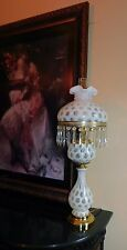 Fenton Art Glass French Opalescent Coin Dot Lamp BIG