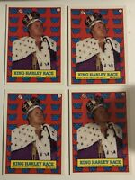 1987 Topps WWF WWE Wrestling Sticker #7 King Harley Race Titan Sports 4 Card Lot