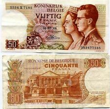 Belgio - Belgio biglietto d'usato 50 franchi pick 139 aver circolato