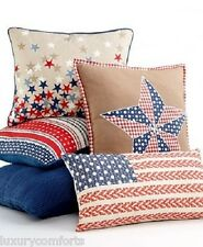 "f194 Martha Stewart Independence Americana Stripe Decorative Pillow 18"" x 18"""
