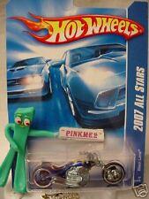 2007 nc Hot Wheels BLAST LANE motorcycle #138∞ variant blue