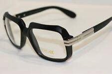 Black Silver Square Hipster Retro Nerd Sun-Glasses Rapper