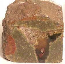 """Jasper Greenish-Gray w/ Imbedded Agate (4"""" X 4"""" X 3 1/2"""" Thick) 3 lbs, 13.7 Oz"""