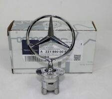 MERCEDES-Benz Cofano Stella Emblema CROMATO BADGE A2218800086 NUOVO S E C CLK Classe