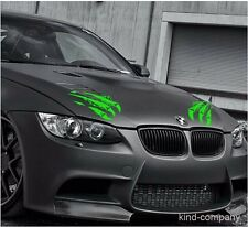 2pcs green tiger claw Vinyl sticker Decals FOR Car auto motor hood light side