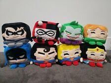 """(NEW) Kawaii Cubes Series 1 DC Comics 4"""" Plush Set of 8."""