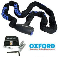 OXFORD MOTORCYCLE MOTORBIKE GP CHAIN 1.5M WITH SOLD SECURE GROUND ANCHOR