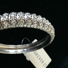 NEW! FOREVER 21 -bracelet ANTIQUE VTG Bangle CRYSTAL RHINESTONES