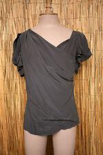 MAJE Haut drapé asymétrique en soie  taille 2 = 36/38, en parfait état