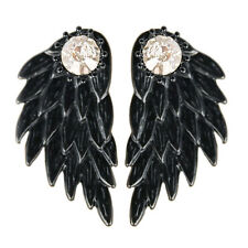 1pair Women Cool Jewelry Angel Wings Rhinestone Alloy Drop Stud Earrings