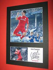 Luis Suarez Liverpool A4 Foto Mount firmato Ristampa Autografo