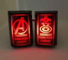 (2) Captain America Arcade LED Coin Buttons w/t Custom USB Power Cord & Wires!