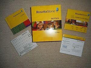 Rosetta Stone GERMAN Deutsch Version 3 Level 1 No headsets 2 CD's + User Manual