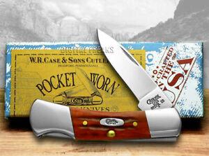 Case xx Small Lockback Knife Pocket Worn Jigged Red Bone Pocket 02758