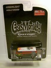 VW VOLKSWAGEN PANEL VAN BUS FLAMES GAS MONKEY GARAGE GREENLIGHT DIECAST