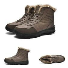 Winter Mens Outdoor Hiking Ankle Boots Shoes Fur Inside Warm Camping Non-slip L