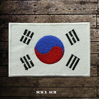 SOUTH KOREA Flag Embroidered Iron On Sew On Patch Badge For Clothes Etc
