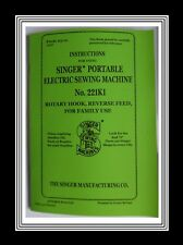 Singer 221k1 Featherweight Sewing Machine Instructions Manual + Troubleshooting*