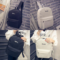 Womens Shoulder Bags Canvas Backpack Schoolbag Handbag Casual Laptop Rucksack